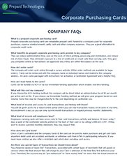 Corporate Purchasing Cards Company FAQs