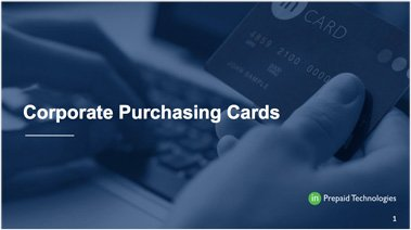 Corporate Purchasing Cards