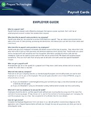 Employer Guide  to Payroll Cards