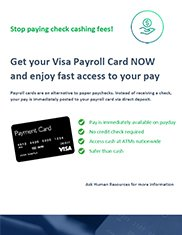 Payroll Cards Poster